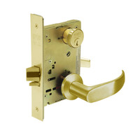 8267-LNP-03 Sargent 8200 Series Institutional Privacy Mortise Lock with LNP Lever Trim in Bright Brass