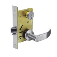 8231-LNP-26D Sargent 8200 Series Utility Mortise Lock with LNP Lever Trim in Satin Chrome