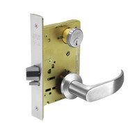 8231-LNP-26 Sargent 8200 Series Utility Mortise Lock with LNP Lever Trim in Bright Chrome