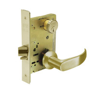 8231-LNP-04 Sargent 8200 Series Utility Mortise Lock with LNP Lever Trim in Satin Brass