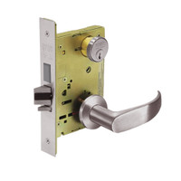 8235-LNP-32D Sargent 8200 Series Storeroom Mortise Lock with LNP Lever Trim and Deadbolt in Satin Stainless Steel