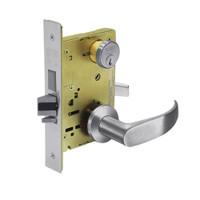 8251-LNP-26D Sargent 8200 Series Storeroom Deadbolt Mortise Lock with LNP Lever Trim and Deadbolt in Satin Chrome
