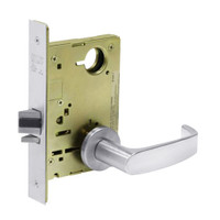 8213-LNL-26 Sargent 8200 Series Communication or Exit Mortise Lock with LNL Lever Trim in Bright Chrome