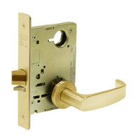 8213-LNL-03 Sargent 8200 Series Communication or Exit Mortise Lock with LNL Lever Trim in Bright Brass