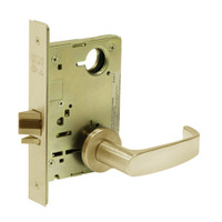 8213-LNL-04 Sargent 8200 Series Communication or Exit Mortise Lock with LNL Lever Trim in Satin Brass