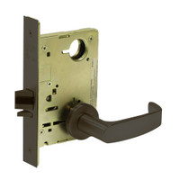 8213-LNL-10B Sargent 8200 Series Communication or Exit Mortise Lock with LNL Lever Trim in Oxidized Dull Bronze