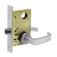 8215-LNL-26D Sargent 8200 Series Passage or Closet Mortise Lock with LNL Lever Trim in Satin Chrome