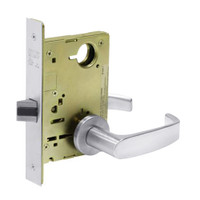 8215-LNL-26 Sargent 8200 Series Passage or Closet Mortise Lock with LNL Lever Trim in Bright Chrome