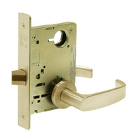 8215-LNL-04 Sargent 8200 Series Passage or Closet Mortise Lock with LNL Lever Trim in Satin Brass