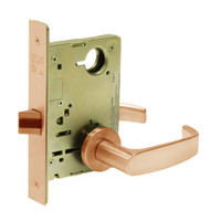 8215-LNL-10 Sargent 8200 Series Passage or Closet Mortise Lock with LNL Lever Trim in Dull Bronze