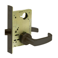 8215-LNL-10B Sargent 8200 Series Passage or Closet Mortise Lock with LNL Lever Trim in Oxidized Dull Bronze