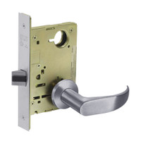 8213-LNP-26D Sargent 8200 Series Communication or Exit Mortise Lock with LNP Lever Trim in Satin Chrome