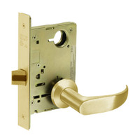 8213-LNP-03 Sargent 8200 Series Communication or Exit Mortise Lock with LNP Lever Trim in Bright Brass