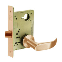 8213-LNP-10 Sargent 8200 Series Communication or Exit Mortise Lock with LNP Lever Trim in Dull Bronze