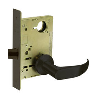 8213-LNP-10B Sargent 8200 Series Communication or Exit Mortise Lock with LNP Lever Trim in Oxidized Dull Bronze