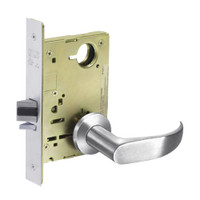 8215-LNP-26 Sargent 8200 Series Passage or Closet Mortise Lock with LNP Lever Trim in Bright Chrome