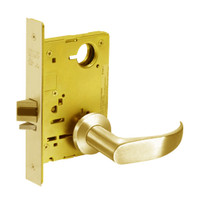 8215-LNP-03 Sargent 8200 Series Passage or Closet Mortise Lock with LNP Lever Trim in Bright Brass