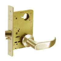 8215-LNP-04 Sargent 8200 Series Passage or Closet Mortise Lock with LNP Lever Trim in Satin Brass