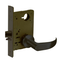 8215-LNP-10B Sargent 8200 Series Passage or Closet Mortise Lock with LNP Lever Trim in Oxidized Dull Bronze