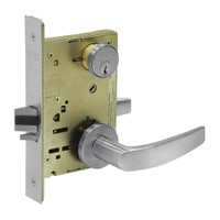 8267-LNB-26D Sargent 8200 Series Institutional Privacy Mortise Lock with LNB Lever Trim in Satin Chrome