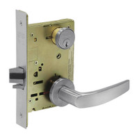8231-LNB-26D Sargent 8200 Series Utility Mortise Lock with LNB Lever Trim in Satin Chrome