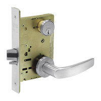 8231-LNB-26 Sargent 8200 Series Utility Mortise Lock with LNB Lever Trim in Bright Chrome