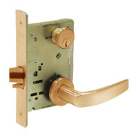 8231-LNB-10 Sargent 8200 Series Utility Mortise Lock with LNB Lever Trim in Dull Bronze