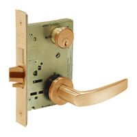 8235-LNB-10 Sargent 8200 Series Storeroom Mortise Lock with LNB Lever Trim and Deadbolt in Dull Bronze
