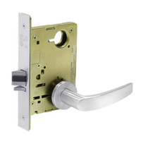 8213-LNB-26 Sargent 8200 Series Communication or Exit Mortise Lock with LNB Lever Trim in Bright Chrome