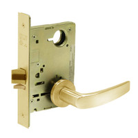 8213-LNB-03 Sargent 8200 Series Communication or Exit Mortise Lock with LNB Lever Trim in Bright Brass