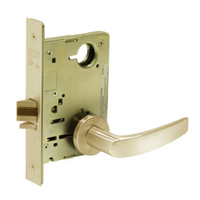 8213-LNB-04 Sargent 8200 Series Communication or Exit Mortise Lock with LNB Lever Trim in Satin Brass