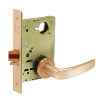 8213-LNB-10 Sargent 8200 Series Communication or Exit Mortise Lock with LNB Lever Trim in Dull Bronze