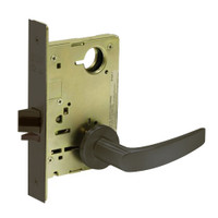 8213-LNB-10B Sargent 8200 Series Communication or Exit Mortise Lock with LNB Lever Trim in Oxidized Dull Bronze