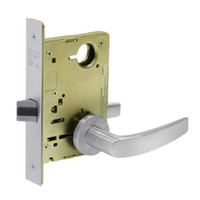8215-LNB-26D Sargent 8200 Series Passage or Closet Mortise Lock with LNB Lever Trim in Satin Chrome