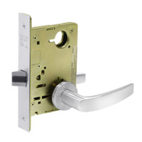 8215-LNB-26 Sargent 8200 Series Passage or Closet Mortise Lock with LNB Lever Trim in Bright Chrome