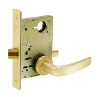 8215-LNB-03 Sargent 8200 Series Passage or Closet Mortise Lock with LNB Lever Trim in Bright Brass
