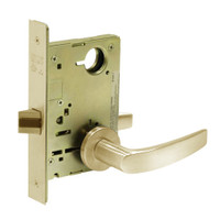 8215-LNB-04 Sargent 8200 Series Passage or Closet Mortise Lock with LNB Lever Trim in Satin Brass