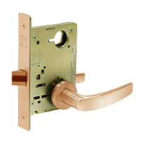 8215-LNB-10 Sargent 8200 Series Passage or Closet Mortise Lock with LNB Lever Trim in Dull Bronze