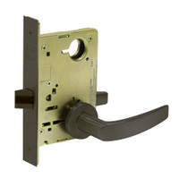 8215-LNB-10B Sargent 8200 Series Passage or Closet Mortise Lock with LNB Lever Trim in Oxidized Dull Bronze