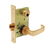 LC-8231-LNL-10 Sargent 8200 Series Utility Mortise Lock with LNL Lever Trim Less Cylinder in Dull Bronze