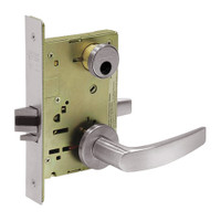 LC-8267-LNB-32D Sargent 8200 Series Institutional Privacy Mortise Lock with LNB Lever Trim Less Cylinder in Satin Stainless Steel