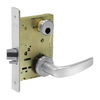 LC-8231-LNB-26 Sargent 8200 Series Utility Mortise Lock with LNB Lever Trim Less Cylinder in Bright Chrome