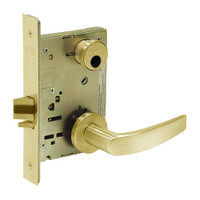 LC-8236-LNB-03 Sargent 8200 Series Closet Mortise Lock with LNB Lever Trim Less Cylinder in Bright Brass