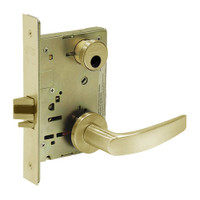 LC-8236-LNB-04 Sargent 8200 Series Closet Mortise Lock with LNB Lever Trim Less Cylinder in Satin Brass