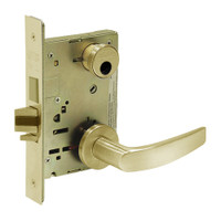LC-8235-LNB-04 Sargent 8200 Series Storeroom Mortise Lock with LNB Lever Trim and Deadbolt in Satin Brass