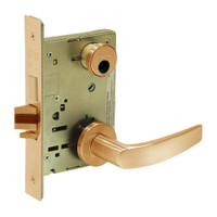 LC-8235-LNB-10 Sargent 8200 Series Storeroom Mortise Lock with LNB Lever Trim and Deadbolt in Dull Bronze