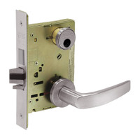 LC-8235-LNB-32D Sargent 8200 Series Storeroom Mortise Lock with LNB Lever Trim and Deadbolt in Satin Stainless Steel