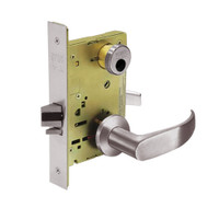 LC-8267-LNP-32D Sargent 8200 Series Institutional Privacy Mortise Lock with LNP Lever Trim Less Cylinder in Satin Stainless Steel