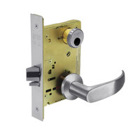 LC-8236-LNP-26D Sargent 8200 Series Closet Mortise Lock with LNP Lever Trim Less Cylinder in Satin Chrome