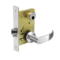 LC-8236-LNP-26 Sargent 8200 Series Closet Mortise Lock with LNP Lever Trim Less Cylinder in Bright Chrome